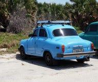 Restored Car At Playa Del Este Cuba Stock Photography