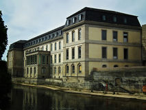 Restored castle in Germany. Restored Castle on the River Leine in Hannover. Local residence of the Dukes Stock Images