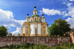 Restored Cathedral of the Ascension in northern russian town Tot Stock Images