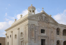 Restored chapel. A restored church on manoel island on the maltese islands stock images