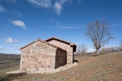 Restored chapel. In San Millan de Lara, Burgos Province, Spain Royalty Free Stock Images