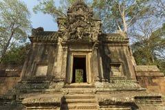Restored Chau Say Tevoda temple near Angkor Wat, Cambodia. View of the restored Chau Say Tevoda temple near Angkor Wat. UNESCO site in Cambodia Royalty Free Stock Photo