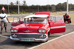 Restored Chevrolet on Display at Beachfront in Durban South Afri Royalty Free Stock Image