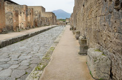 Restored city Pompeii Stock Photography