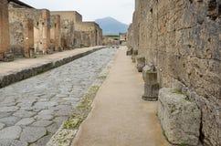 Restored city Pompeii Stock Photography