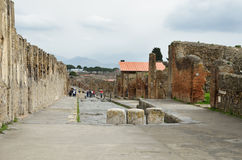 Restored city Pompeii Stock Image