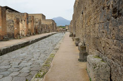 Restored city Pompeii Royalty Free Stock Image