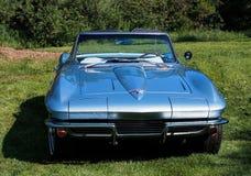 Restored Classic Blue Corvette Stingray Convertible Stock Photos