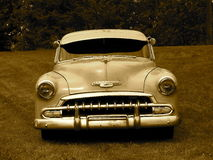 Restored Classic Chevrolet In Sepia Royalty Free Stock Photos