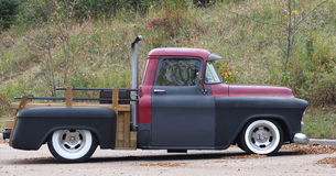 Restored Classic Red And Black Truck Stock Photography