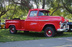 Restored Classic Red Chevrolet Half Ton Truck Stock Photo