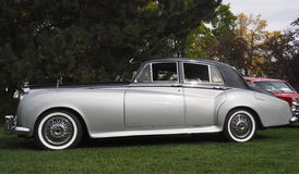 Restored Classic Silver Bentley Royalty Free Stock Photo
