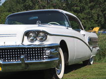 Restored Classic White Buick Stock Photography
