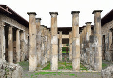 Restored columns of the Roman temple Stock Images