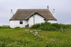 Restored Croft Cottage. Now used as holiday home Stock Photo