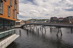 Restored Docklands in Trondheim Stock Images