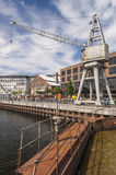 Restored Docklands in Trondheim Royalty Free Stock Image