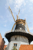 Restored Dutch windmill in Waasenaar, Holland Royalty Free Stock Photography