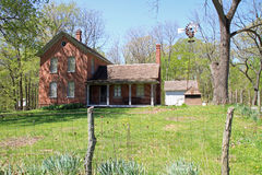 Restored farmhouse. Beautifully restored turn of the century farmhouse in Indiana Royalty Free Stock Photos