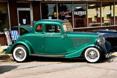 Restored 1934 Five Window Ford Coupe Stock Image