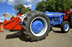 Restored Ford 2000 tractor. YANKTON, SOUTH DAKOTA, August 19, 2106: A Restored blue Ford 2000 tractor is displayed at the annual Riverboat Days celebrated the Royalty Free Stock Photo