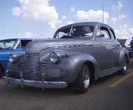 Restored Grey Coupe. With running boards Royalty Free Stock Image
