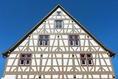 Restored half-timbered house Royalty Free Stock Photos