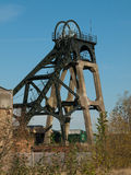Restored Headstocks at a Local Colliery site. Pleasley Colliery was built in 1870 and produced coal untill 1983. Located on the Nottinghamshire/Derbyshire border Stock Photos