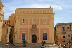The Old Town Hall. Restored historic palace-turned-museum featuring temporary exhibitions of contemporary artwork.nnLocated in the Piazza Palazzo near the old Stock Photo