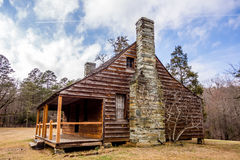 Restored historic  wood house in the uwharrie mountains forest Stock Photography