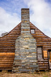 Restored historic wood house in the uwharrie mountains forest Royalty Free Stock Images