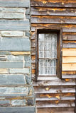 Restored historic wood house in the uwharrie mountains forest Royalty Free Stock Photo