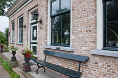Restored house in the Dutch village of Drimmelen. This house Adrian Lukwelhuis was originally built in 1805, later expanded and restored in 1994 with original Royalty Free Stock Images
