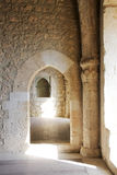 Restored interiors, a castle of middle ages. A detail of the interiors of the restored medieval fortress of mussomeli, sicily, a well known sample of Royalty Free Stock Image