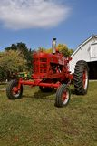 Restored 400 International Farmall tractor. MOORHEAD, MINNESOTA, September 20, 2017: A red restored Farmall International 400 is a model name and later a brand Stock Images