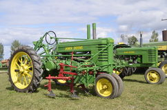 Restored John Deere Tractors Stock Image
