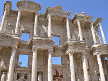 The restored Library of Celcus. Image of Ephesus , the biggest city of its time Stock Photo
