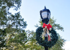 Restored Light Decorated for Christmas royalty free stock image
