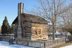 Restored log cabin Stock Photo