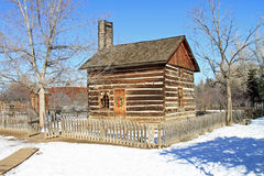 Restored log cabin Royalty Free Stock Photography