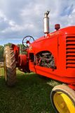 Restored Massey Harris tractor. ROLLAG, MINNESOTA, Sept 3, 2017: The restored Massey Harris tractor is displayed at the annual WCSTR farm show in Rollag held Royalty Free Stock Photos