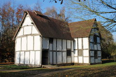 Restored medieval hall rear view Royalty Free Stock Image