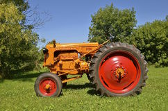 Restored Minneapolis Moline tractor. CLARISSA ,MINNESOTA, August 13, 2015: The restored Minneapolis Moline tractor came from a merger of three companies Stock Images