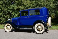 Restored 1931 Model T Ford. MOORHEAD, MINNESOTA, September 7, 2017: The restored 1931 Ford Model T is a product of the Ford Motor Company located in Dearborn Royalty Free Stock Photo