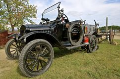 Restored Model T truck. ROLLAG, MINNESOTA, Sept 1. 2016: An old restored classic Model T Ford is displayed at the West Central Steam Threshers Reunion in Rollag Royalty Free Stock Photos