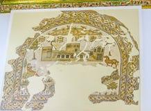 The restored mosaics Stock Image