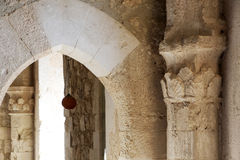 The restored nteriors of a castle of middle ages Royalty Free Stock Image