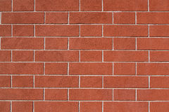 Restored old brick wall. Exterior surface, good condition Stock Images