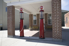 Restored old gas station stock photography