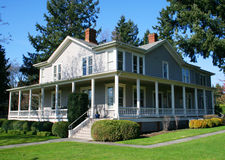 Restored old house. Royalty Free Stock Photos